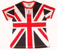Union jack skinny fit ladies t-shirt