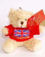 Teddy bear London keychain