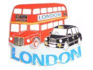Black cab/bus metal  magnet